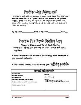 Fantasy Book Partnership Activity Packet