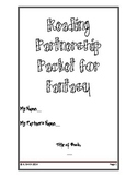 Fantasy Book Partnership Activity Packet