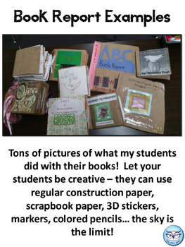 Fantasy Book Report - ABC Paper Bag Book Project for grades 3-6