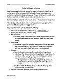 Fantasy Book Report - Create a Movie Poster Handout
