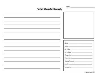 Fantasy Character Biography