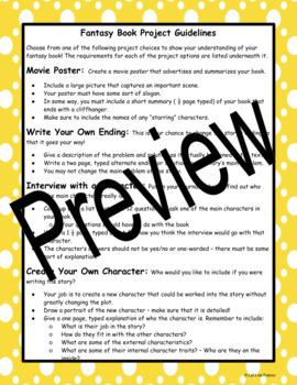 Fantasy Choice Novel Project