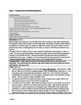 Fantasy Common Core Reader's Workshop