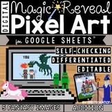 Google Sheets Pixel Art Fantasy Digital Magic Reveal ADDIT