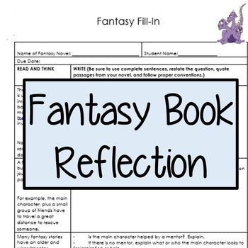 Fantasy Fill-In (Book Report)
