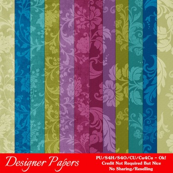 Fantasy Fairytale Floral Pattern Digital Papers