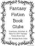 Fantasy Fiction Book Club for ANY Fantasy Fiction Novel