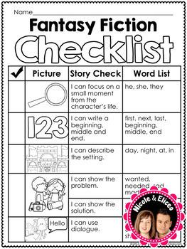 Writing Checklist - Fantasy Fiction