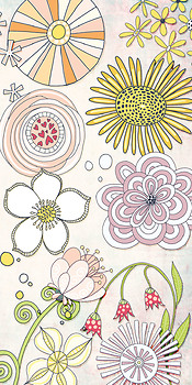 Fantasy Flower ClipArt 01, Whimsical Hand Drawn Floral Graphics