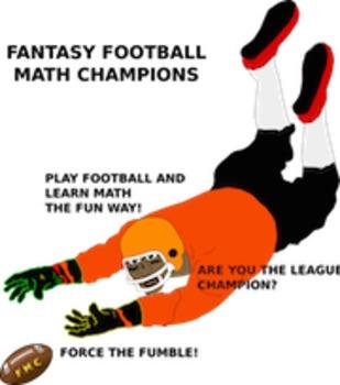 Fantasy Football Math Champions Sports Math Game and math lesson Plan
