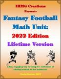 Fantasy Football Math Unit: 2017 Edition (Common Core)