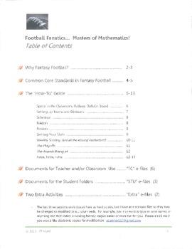 Fantasy Football in the Classroom