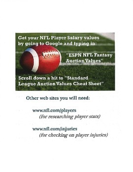 Fantasy Football in the Classroom - Shortened Version!