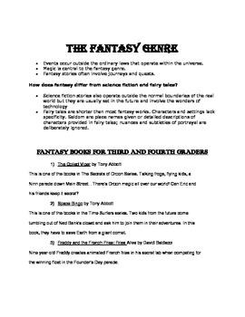 Fantasy Genre Book List