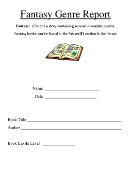 Fantasy Genre Book Report