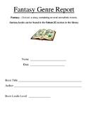 Fantasy Genre Book Report