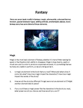 Fantasy: Genre Studies