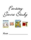 Fantasy Genre Study Student Organizer