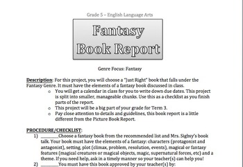 book report ideas for middle school