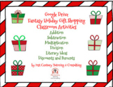 Fantasy Holiday Gift Shopping: Math and Literacy Activitie