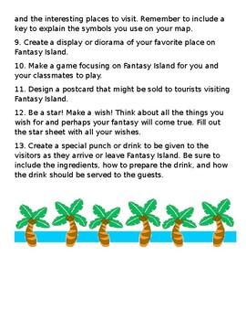 Fantasy Island Center Activities