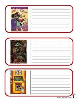 Fantasy Literacy Cards (CCSS 4)