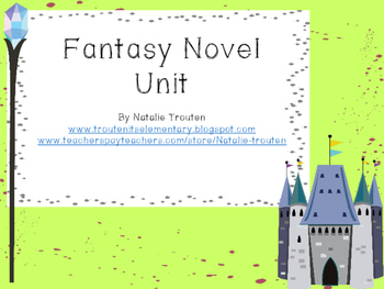 Fantasy Novel Unit