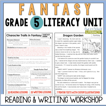 Fantasy Reading & Writing Unit: Grade 5...40 Lessons with CCSS!!