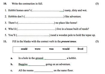 Fantasy Story (Reading Comprehension Worksheet)