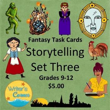 Task Cards (Set 3) Storytelling, Creative Writing, Fun, Sub Plan, Fiction