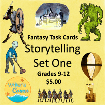 Task Cards (Set One) Storytelling, Creative Writing, Fun, Sub Plan, Fiction