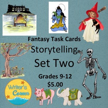 Task Cards (Set Two) Storytelling, Creative Writing, Sub Plan, Fun, Fiction