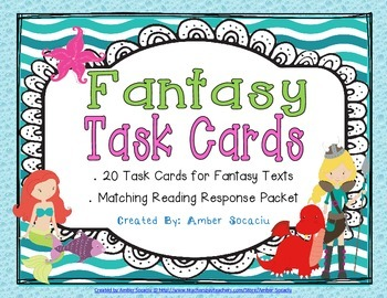 Fantasy Task Cards with Recording Sheets