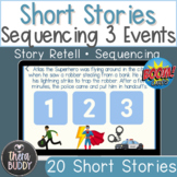 Fantasy Themed Short Stories Sequencing 3 Events BOOM Card