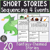 Fantasy Short Stories Sequencing 4 Events Worksheets Low P