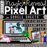 Fantasy / Unicorns Digital Pixel Art Magic Reveal MULTIPLICATION