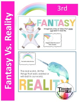 Fantasy Vs. Reality-Unicorn and Narwal Critical Thinking Unit