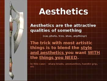 Fantasy Weapons Art Lesson Powerpoint