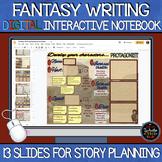Fantasy Writing Digital Interactive Notebook: Google Slides
