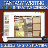 Fantasy Writing Digital Interactive Notebook: Google Slides