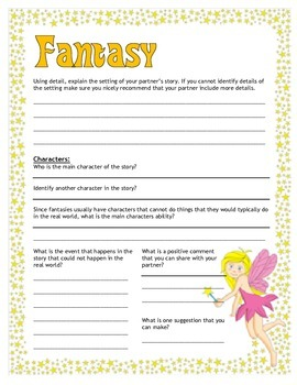 Fantasy Writing Peer Edit