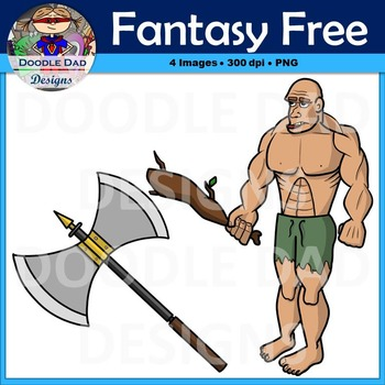Fantasy and Adventure Free Clip Art (Giant and Axe)