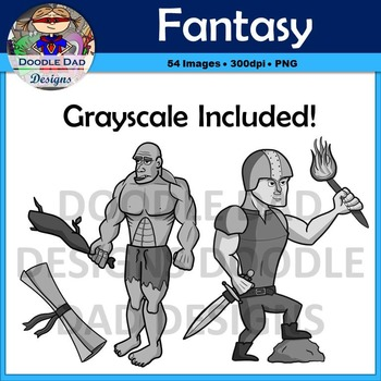 Fantasy and Adventure Clip Art Pack (Fairy, Wizard, Giant, Archer, Medieval)