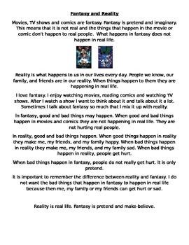 Fantasy and Reality Social Narrative *Autism*