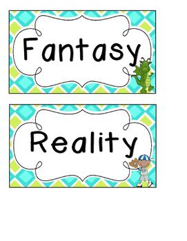 Fantasy and Reality Sorts