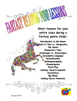 Fantasy mini lessons for guided reading for whole class