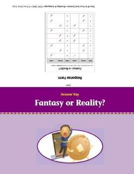 Fantasy or Reality? (Take It to Your Seat Centers)