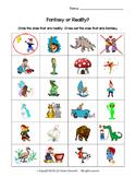 Fantasy v. Reality Worksheet