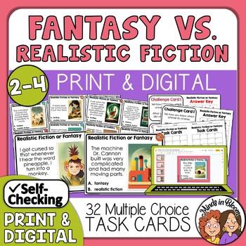 Fantasy vs. Realism Task Cards