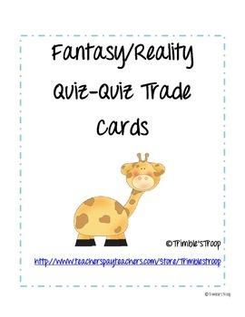 Fantasy/Reality Quiz-Quiz-Trade Cards